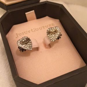 Juicy Couture Signature Pave Heart Stud Earrings